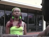 Slim Ebony Girl Fucked And Facial