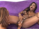 Black Girls Furiously Fucking With Dildos