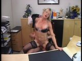 Secretary makes a splash in her bosses office (clip)