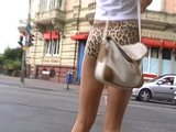 Sexy ass in leopard shorts