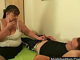 Wife catches him screwing his busty mother-in-law