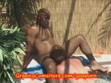 Granny Valerie and a GF get some BBC