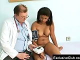  Black chubby Manuela gyno exam