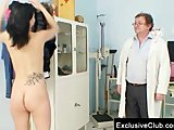 Brunette Pavlina Vagina Exam By Old Doctor