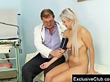 Pretty young Sabina coming to her gyno doctor