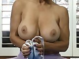 Flexible Hairy Milf Stretches Her Pussy