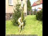 Crazy naked golden statue