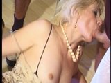 Old lady takes the opportunity to get some young cock(s)!!