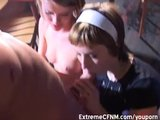 Double blowjob and a fuck for Male Stripper
