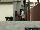 Busty Girl Fucked Hard In An Alley