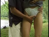 Guy meets chick sightseeing, takes her to woods and fucks her