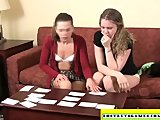 Amateur girls playing strip memory