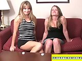 2 chicks paid for playing sex games