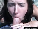 Real Amateur Public POV Blowjob