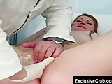 Helga gyno pussy speculum examination on gynochair