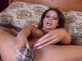 Vanessa Lane is hot and horny but settles for her dildo for now