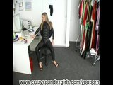 Sex Movie of Office Girl Spreading Pussy In Lycra