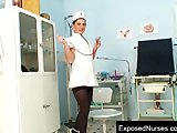 Nurse Zaneta speculum masturbation at clinic