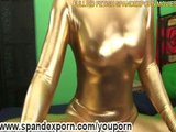 Shiny spandex hot girl fucked (clip)