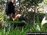 Blonde Hottie Sucks Cock In Public