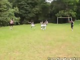 Tranny Soccer Team Fucking Referee