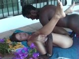Omar fucks a horny brunette by the pool(clip)