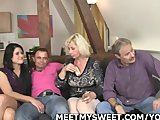 Porn Tube of Older Dad And Mom Bang Their Son's Gf