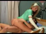 Skinny nurse fucking in latex gloves and stockings