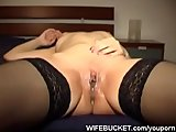 Shy horny wife homemade fuck