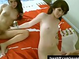 Brunette Hottties Allie And Ashlyn Threesome