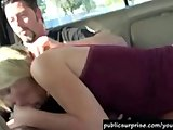 Hot Blonde Gives Road Head And Gets Fucked