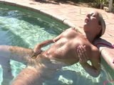 Nikki Miller playing with herself in the pool - Xisty