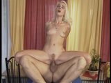 Bleached blonde banged by big dick