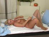 Blonde babe Silvia Saint solo