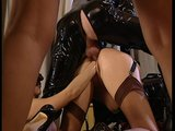 Kinky group sex in latex