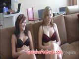 Two shy teen ladies - first casting