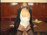 Snooty mature businesswoman gets nailed
