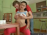 He creampies her sperm-starved slit