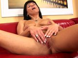 Porn Tube of Mature Linette Plays With Her Dildo