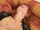 Aged babe Nina masturbates herself