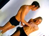 Sexy blonde fucked in photoshoot - Sascha Production