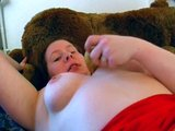 German BBW plays with a banana - Sascha Production
