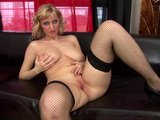 Cute blonde Rachel in fishnets - CzechSuperStars