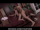 BIG TIT BRUNETTE TEEN GIRLFRIEND IN HEELS FUCKS
