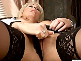 Sensual mature masturbation