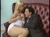 Big tit blonde provides relief in the office - DBM Video
