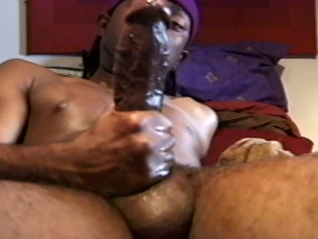 Huge Black Cock Jerking Off