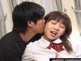 Japanese schoolgirl threesome