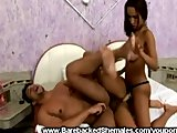 Threesome With Shemale Hunk and Female