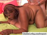 Beautiful black BBW gets boned